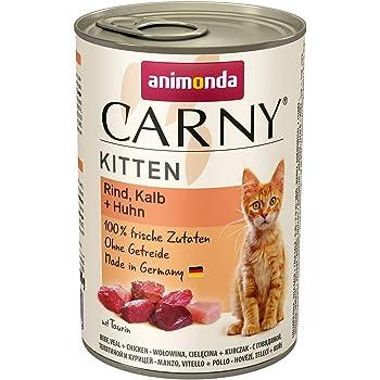 animonda Carny Kitten Katzenfutter, Nassfutter Katzen bis 1 Jahr, verschiedene Sorten, 6 x 400 g