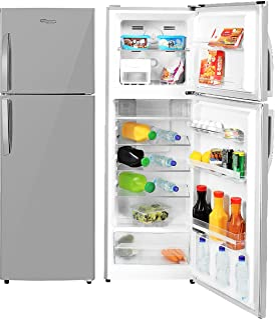 Super General 360 Liters Gross Compact Double Door Refrigerator-Freezer, No-Frost, LED-light, Inox, SGR-360-l, 54.5 x 59.5...
