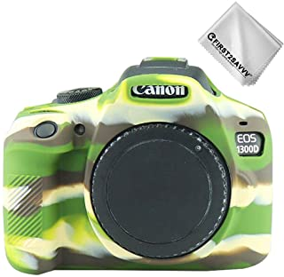 Verde Cuerpo Completo Caucho de TPU Funda Estuche Silicona para cámara para Canon Rebel T6 Rebel T7 Kiss X80 Kiss X90 EOS 2000D 1500D 1300D