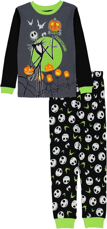 Disney Boys' Nightmare Before Christmas Seasonal Snug Fit Cotton Pajamas