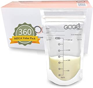 360 CT (6 Pack of 60 Bags) MEGA Value Pack Breastmilk Storage Bags - 7 OZ, Pre-Sterilized, BPA Free, Leak Proof Double Zip...