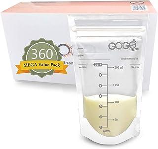360 CT (6 Pack of 60 Bags) MEGA Value Pack Breastmilk Storage Bags - 7 OZ, Pre-Sterilized, BPA Free, Leak Proof Double Zip...