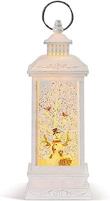 DEMDACO Lit Snowman Winter White 12 x 4 Acrylic Holiday Musical Lantern Figurine