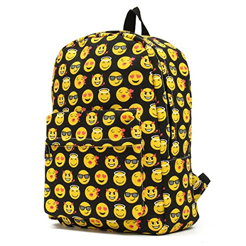 OUTERDO Funny Smiley Unisex Backpack Travel Backpack Bag Backpack/School Backpack/Children Backpack/School bag-innovativo Model of Design – Perfect for sports, Picnics, Outdoor Events black