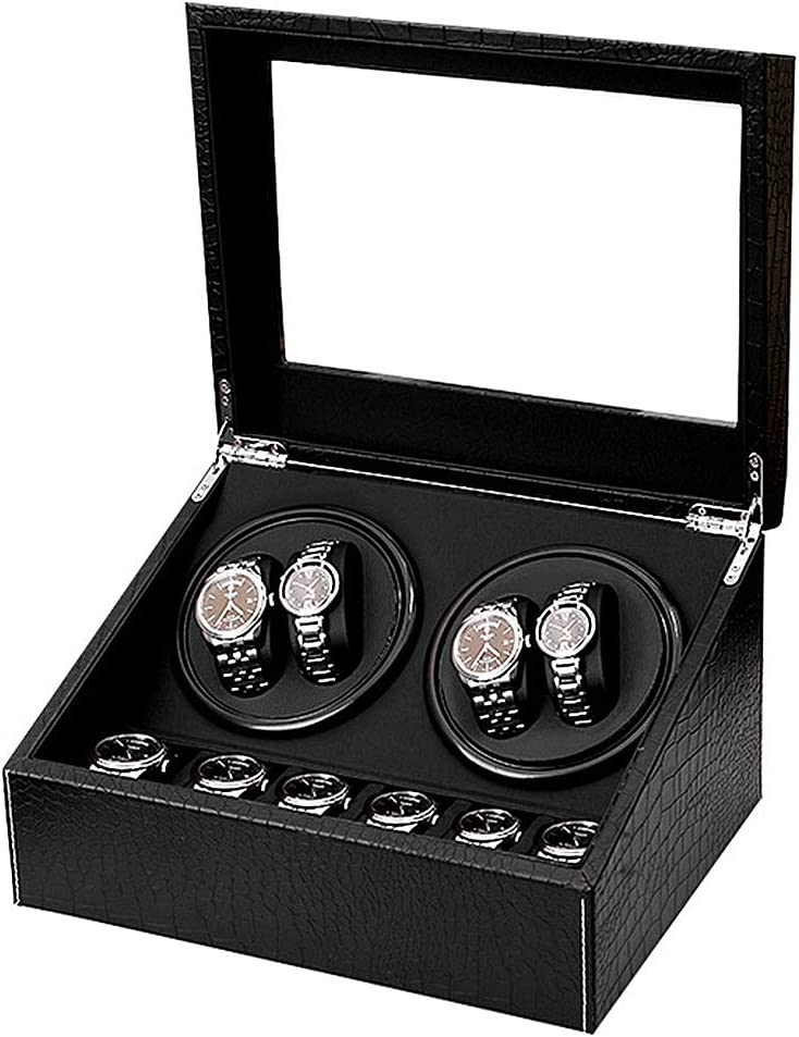 ZCXBHD Automatic Watch Winder for NEW before selling ☆ Watches Cheap mail order sales 4+6 Box Winding Crocod