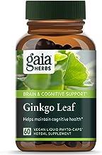 Gaia Herbs Ginkgo Leaf, Vegan Liquid Capsules, 60 Count - Daily Brain Health and Mental Focus Supplement with Antioxidants...
