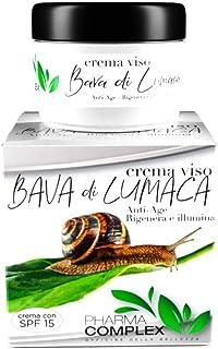 Crema Viso Donna Bava Di Lumaca Ml 50 Made In Italy Antirughe Antiage Trattamento Rigenerante Idratante Giorno Notte Cosme...