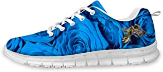 FOR U DESIGNS Fashion Womens Shoes Causal Floral Pattern Sport Running Tennis Sneaker