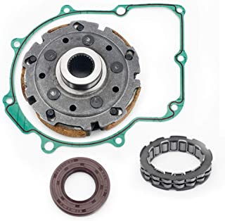 TARAZON ATV UTV Wet Clutch Pad Shoe + One Way Bearing + Oil Seal + Gasket kit for YAMAHA RHINO 660 YXR660 2004 2005 2006 2007/ GRIZZLY 660 YFM660 2002 2003 2004 2005 2006 2007 2008