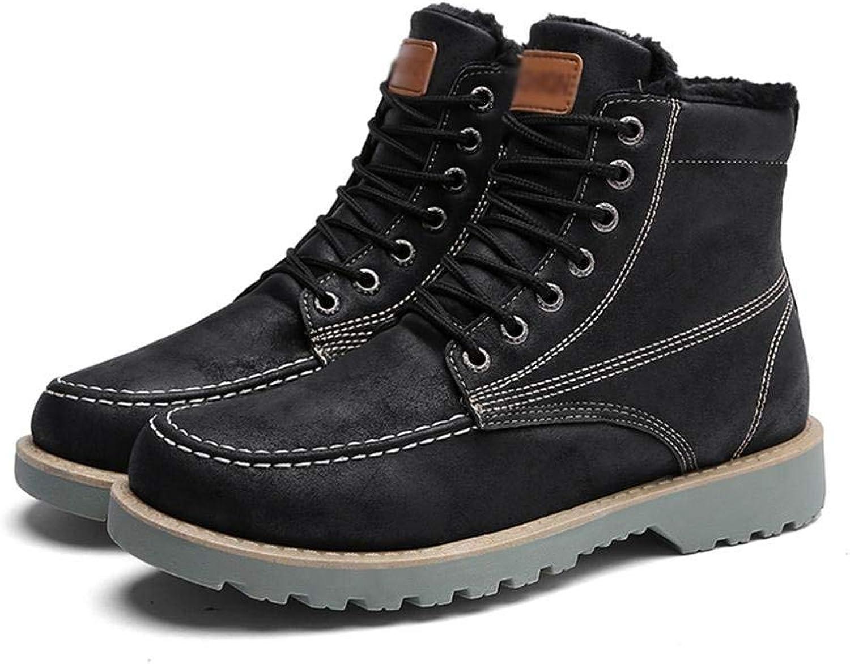 Männer Arbeiter Stiefel Herbst und Winter hoch, um Plüsch warm Plus Baumwollspitze mit Behinderungen, 41 zu helfen (Farbe   -, Größe   -)  | Erlesene Materialien