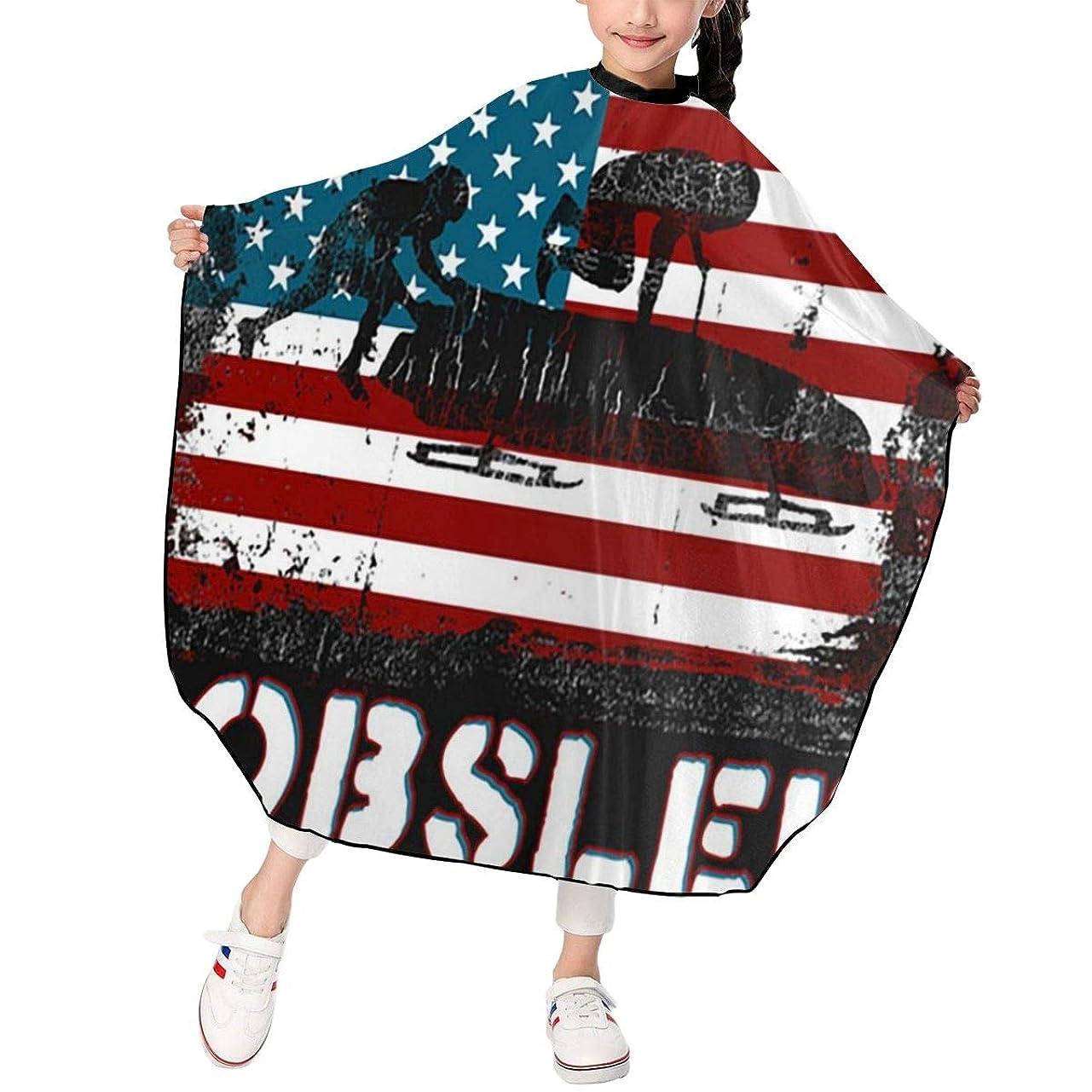 フィラデルフィア従う遮る最新の人気ヘアカットエプロン 子供用ヘアカットエプロン120×100cm アメリカそりの国旗 柔らかく、軽量で、繊細なポリエステル生地、肌にやさしい、ドライ