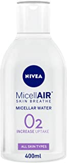 NIVEA, Face Cleanser, MicellAIR, Micellar Water, All-in-1 Makeup Remover, All Skin Types, 400ml