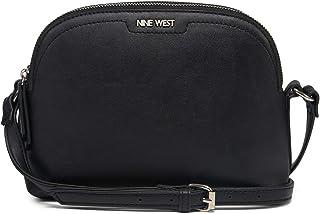 حقيبة بحزام طويل يمر بالجسم للنساء من ناين ويست، لون اسود