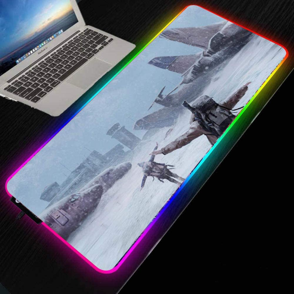 Mouse Pads New life Airplane Max 89% OFF in The Snow Player RGB LED Large Game