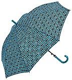 C-Collection Parapluie long femme - Ouverture automatique Imprimé Patchwork bleu Paraguas clásico, 61 cm, 122 liters, Azul (Bleu)