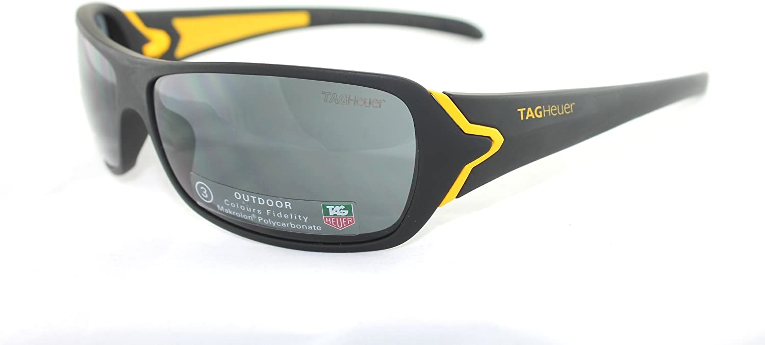 Beautiful TAGHEUER sunglasses, Black &yellow frame.polycarbonate lens Mod.TH9202