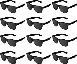 Super Z Outlet Plastic Vintage Retro Style Sunglasses Classic Shades Eyewear Party Prop Favors (12 Pairs) (Black)