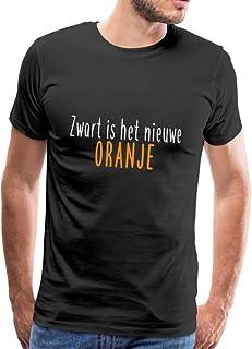 Spreadshirt Zwart Is Het Niewe Oranje Koningsdag Mannen Premium T-shirt