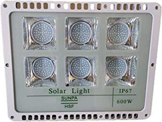 Sister-A 600W Solar Light Motion Sensor LED Flood Lights Outdoor Security Light with Remote IP66 Waterproof for Garden, Ya...