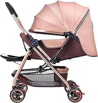 7b43504c4 Yhz@ Cochecito de bebé Ligero Portable High Landscape Puede Sentarse y  acostarse Plegable Simple Handle