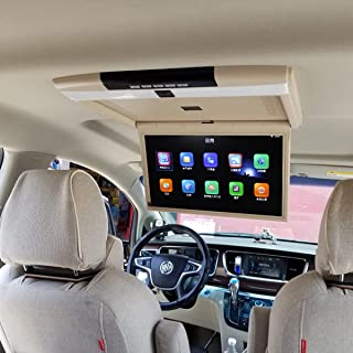 15inch Car Overhead Monitor 1080p Car Video Player Roof Mount Console,android/ios Mobile Phone Screen Projection, 12v-32v ...
