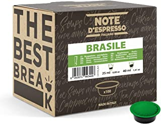 Note d'Espresso - Brazil - Dosettes de Café - Compatible avec les Machines LAVAZZA* A MODO MIO* - 100 caps