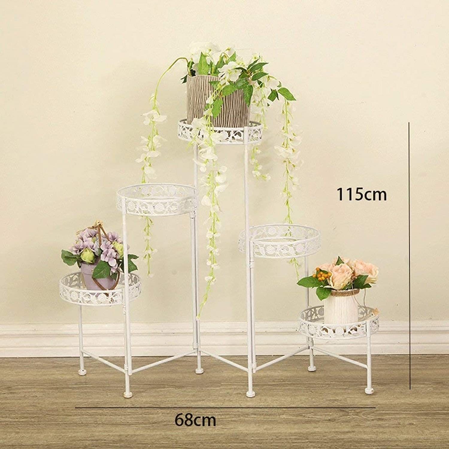 WHKFD Fashion Interior Fashion Multi-Storey Floor Stand, Multi-Functional Shelf