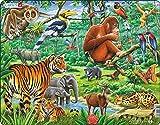 Larsen FH24 Una Vibrante Selva asiática, Puzzle de Marco con 20 Piezas