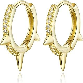 925 Sterling Silver Dainty Huggie Earring Small Huggie Hoop Earring for Women