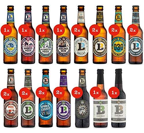LEMKE Berlin Lemkes Bierwelt | Mix-Paket Craft Bier, Bier-Mix, Bier Box Craft Beer (24 x 0,33l)