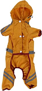 Dog Raincoat Ultralätt Rain Rain Cover Rain, 6 storlekar Pet Raincoat Vattentät jacka Cat Dog Hood Rain Coat Reflective Ov...