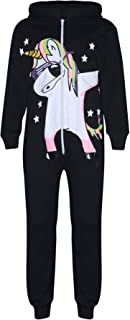 Kids Girl 100% Cotton Unicorn Dab Black A2Z Onesie One Piece All in One Jumpsuit