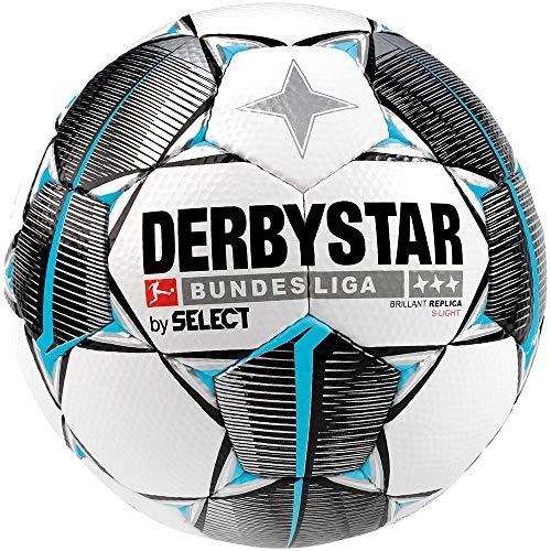 Derbystar Kinder Bundesliga Brillant S-Light Fußball, weiß schwarz Petrol, 4