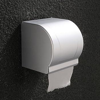 12.5CM SZ JIAOJIAO Porta Carta igienica Chiusa in Acciaio Inox Parete Auto-Adesivo Carta igienica Supporto per Rotolo di Carta e Traino Carta,15 12.5