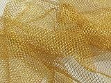 Minerva Crafts Glitter Net Fabric Gold - per metre