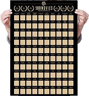 YEKKU Carteles para rascar, 100 películas, póster para rascar, lista de cubos películas fondos de pantalla decoración de p...