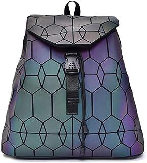 Mochila geométrica holográfica reflectante Mochilas de moda Daypack y bolso (Luminous Backpack No.4)