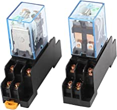 uxcell 2Pcs LY2N-J DC 12V Coil Voltage 8Pin DPDT Power Electromagnetic Relay w Socket