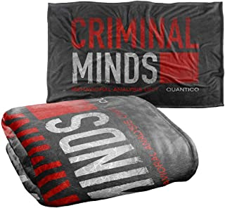 """Trevco Criminal Minds Logo Silky Touch Super Soft Throw Blanket 36"""" x 58"""""""