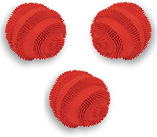 Latex Spiny Ball with Squeaker Dog Toy Size:Pack of 3 Color:Assorted