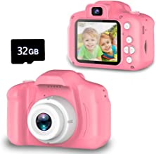 Seckton Upgrade Kids Selfie Camera, Best Birthday Gifts for Girls Age 3-9, HD Digital Video Cameras for Toddler, Portable ...
