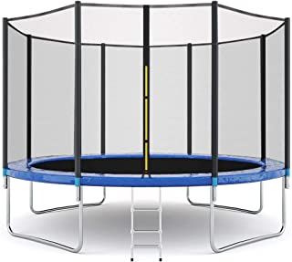 Onefa Trampoline for Kids Outdoor, 10 FT Kids Trampoline with Enclosure Net Jumping Mat and Spring Cover Padding