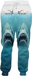Primavera e Autunno Uomo Oversize Stampato in 3D Divertente squalo Marino Pantaloni per Il Tempo Libero Adorabili Pantalon...