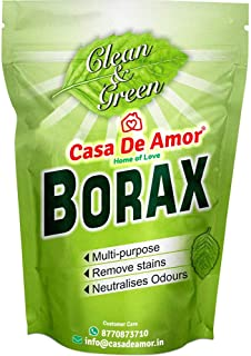 Casa De Amor Essential Borax Powder, 100% Pure for Whitening & Cleaning and Slime (900 gm)