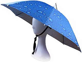 JANGANNSA Fishing Umbrella Hat Folding Sun Rain Cap Adjustable Outdoor Headwear