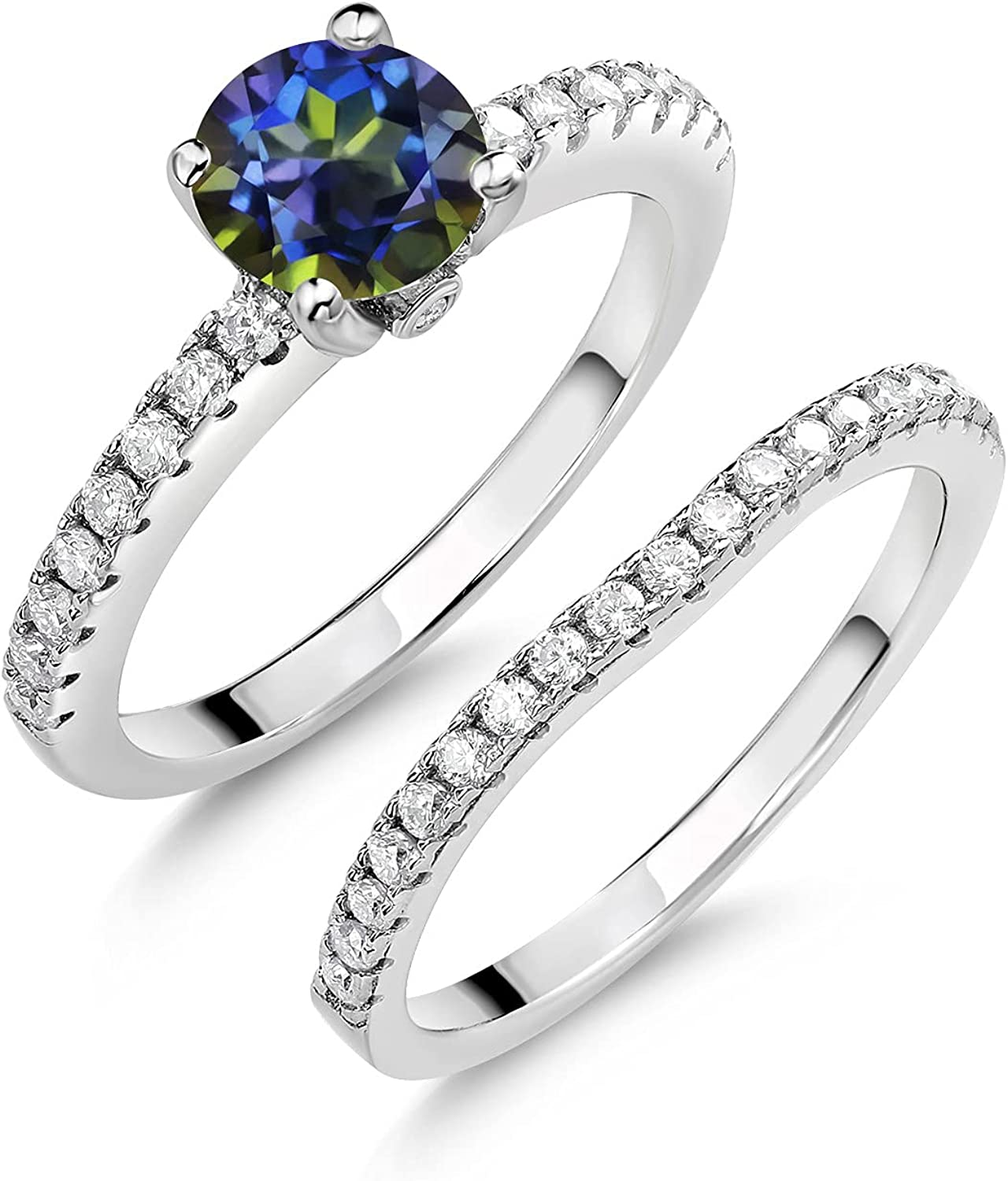 925 Sterling Silver Women Wedding Free shipping New Engagement Bridal Ring Band Se Branded goods