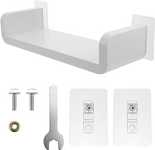 Cabilock U Shape Adhesive Floating Shelves Non Drilling Display Picture Ledge Shelf U Bathroom Shelf Organizer for Home Wa...