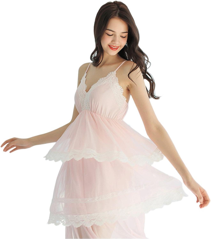 Summer sweet princess net yarn sling ( color   Pink , Size   M )