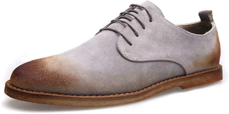 Lok Fu shoes Men Oxford shoes Casual shoes Youth shoes Suede Leather Tide shoes Men
