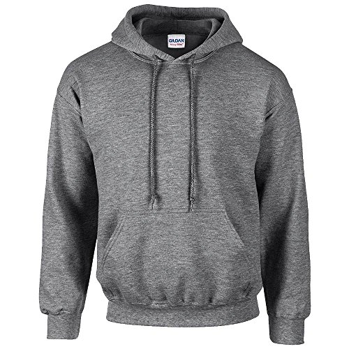 Gildan - Unisex Kapuzenpullover \'Heavy Blend\' , Graphite Heather, Gr. L